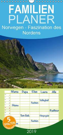 Norwegen – Faszination des Nordens – Familienplaner hoch (Wandkalender 2019 , 21 cm x 45 cm, hoch) von Ergler,  Anja