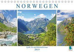 Norwegen: Fjorde, Wald und Mitternachtssonne (Tischkalender 2019 DIN A5 quer) von CALVENDO