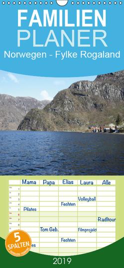 Norwegen – Fylke Rogaland – Familienplaner hoch (Wandkalender 2019 , 21 cm x 45 cm, hoch) von Kleverveer