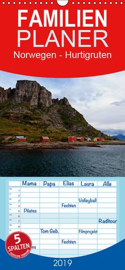 Norwegen – Hurtigruten – Familienplaner hoch (Wandkalender 2019 , 21 cm x 45 cm, hoch) von Enders,  Borg