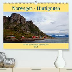 Norwegen – Hurtigruten (Premium, hochwertiger DIN A2 Wandkalender 2021, Kunstdruck in Hochglanz) von Enders,  Borg