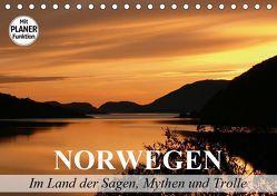 Norwegen. Im Land der Sagen, Mythen und Trolle (Tischkalender 2019 DIN A5 quer) von Stanzer,  Elisabeth
