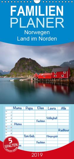 Norwegen – Land im Norden – Familienplaner hoch (Wandkalender 2019 , 21 cm x 45 cm, hoch) von kalender365.com