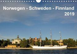 Norwegen – Schweden – Finnland (Wandkalender 2019 DIN A4 quer) von Haardiek,  Clemens