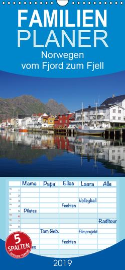 Norwegen – vom Fjord zum Fjell – Familienplaner hoch (Wandkalender 2019 , 21 cm x 45 cm, hoch) von Pantke,  Reinhard