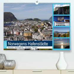 Norwegens Hafenstädte – Alesund – Honningsvag – Geiranger – Bergen (Premium, hochwertiger DIN A2 Wandkalender 2021, Kunstdruck in Hochglanz) von Gayde,  Frank