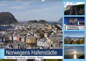 Norwegens Hafenstädte – Alesund – Honningsvag – Geiranger – Bergen (Wandkalender 2018 DIN A2 quer) von Gayde,  Frank