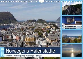 Norwegens Hafenstädte – Alesund – Honningsvag – Geiranger – Bergen (Wandkalender 2018 DIN A4 quer) von Gayde,  Frank