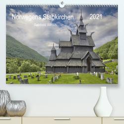 Norwegens Stabkirchen (Premium, hochwertiger DIN A2 Wandkalender 2021, Kunstdruck in Hochglanz) von Wittich,  Reinhold