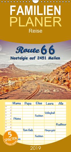 Nostalgie auf 2451 Meilen – Route 66 – Familienplaner hoch (Wandkalender 2019 , 21 cm x 45 cm, hoch) von Roder,  Peter