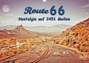Nostalgie auf 2451 Meilen – Route 66 (Wandkalender 2018 DIN A3 quer) von Roder,  Peter