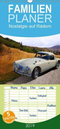 Nostalgie auf Rädern – Familienplaner hoch (Wandkalender 2019 <strong>21 cm x 45 cm</strong> hoch) von Huschka u.a.,  Klaus-Peter