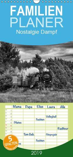 Nostalgie Dampf – Familienplaner hoch (Wandkalender 2019 , 21 cm x 45 cm, hoch) von Maurer,  Marion