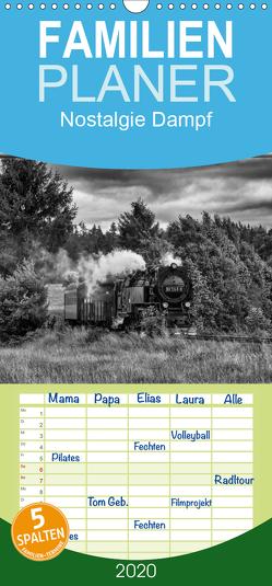 Nostalgie Dampf – Familienplaner hoch (Wandkalender 2020 , 21 cm x 45 cm, hoch) von Maurer,  Marion