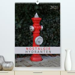 Nostalgie Hydranten (Premium, hochwertiger DIN A2 Wandkalender 2021, Kunstdruck in Hochglanz) von SchnelleWelten