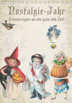 Nostalgie-Jahr, Motive aus alten Poesiealben (Tischkalender 2019 DIN A5 hoch) von bilwissedition.com Layout: Babette Reek,  Bilder: