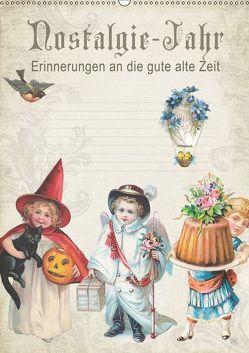 Nostalgie-Jahr, Motive aus alten Poesiealben (Wandkalender 2019 DIN A2 hoch) von bilwissedition.com Layout: Babette Reek,  Bilder: