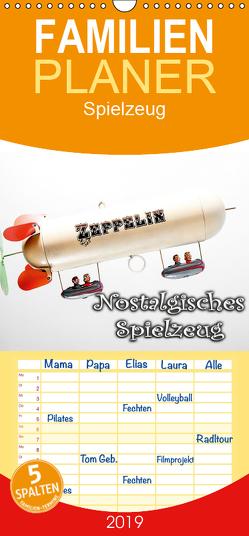 Nostalgisches Spielzeug – Familienplaner hoch (Wandkalender 2019 , 21 cm x 45 cm, hoch) von Portenhauser,  Ralph