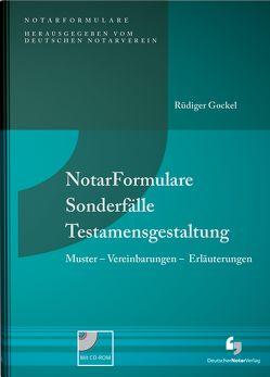 NotarFormulare Sonderfälle Testamentsgestaltung – eBook von Gockel,  Rüdiger