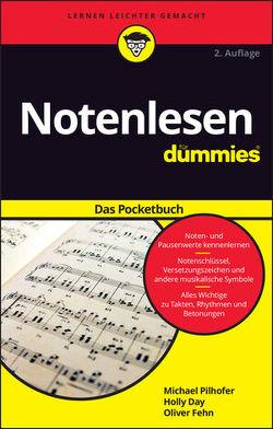Notenlesen für Dummies Pocketbuch von Day,  Holly, Fehn,  Oliver, Pilhofer,  Michael