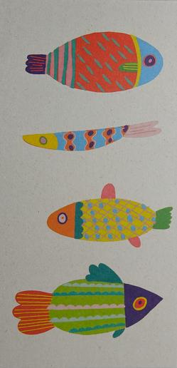 Notizblock klein: Fisch von Zintenz