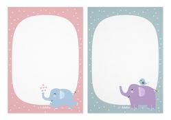 Notizblock-Set Elefanten (für Kinder)