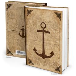 Notizbuch ANKER MITTELALTER WELT antik (Hardcover A4, Blankoseiten)