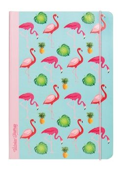 "Notizbuch ""Flamingo"" Hardcover, 2 Motive"