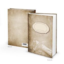 """Notizbuch """"Füller Papierrolle"""" vintage Nostalgie (Hardcover A5, Blankoseiten)"""