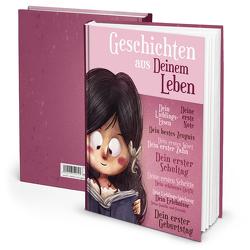 """Notizbuch """"Geschichten aus Deinem Leben"""" Mädchen (Hardcover A4, Blankoseiten)"""