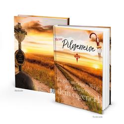 Notizbuch MEINE PILGERREISE – Jakobsweg Pilgerreise (Hardcover A5, Blankoseiten)