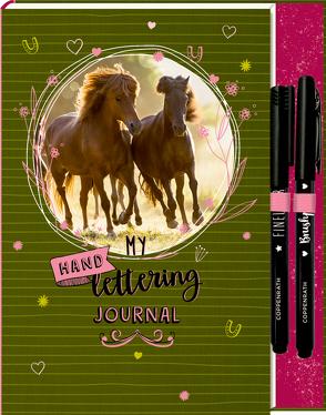 Notizbuch mit Extras – Pferdefreunde – My Handlettering Journal von Slawik,  Christiane