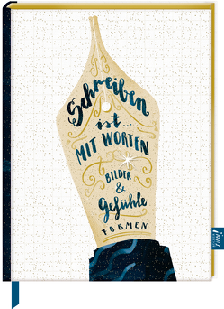 Notizbuch mit glitzerndem Stoffeinband – BücherLiebe