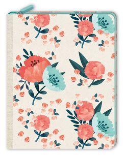 Notizbuch mit Reißverschluss – Blütentraum