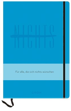 Notizbuch NICHTS blau von Groh,  Joachim