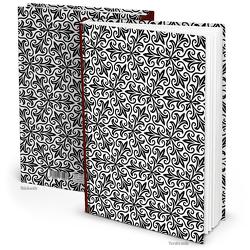 """Notizbuch """"Orient"""" schwarz weiß (Hardcover A4, Blankoseiten)"""