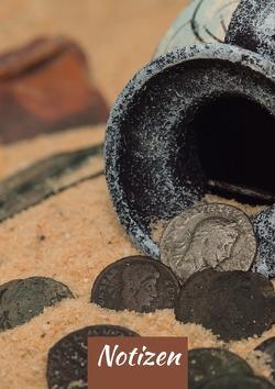 Notizbuch – Römische Münzen – 120 Seiten blanko von Gro,  Man
