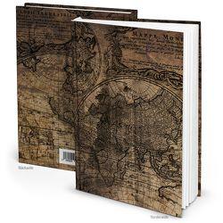 Notizbuch vintage ALTE WELT BRAUN maritim (Hardcover A5, Blankoseiten)