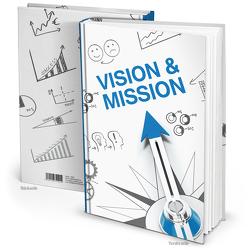 """Notizbuch """"Vision & Mission"""" blau weiß"""
