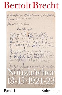 Notizbücher 13-15 von Brecht,  Bertolt, Kölbel,  Martin, Villwock,  Peter