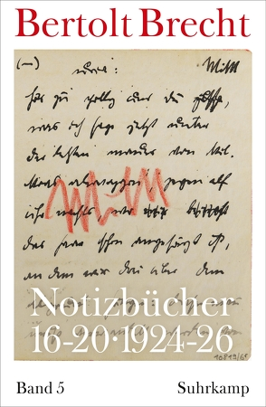 Notizbücher 16-20 von Brecht,  Bertolt, Kölbel,  Martin, Villwock,  Peter