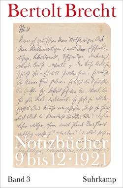 Notizbücher von Brecht,  Bertolt, Kölbel,  Martin, Villwock,  Peter