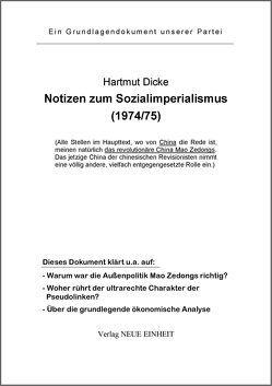 Notizen zum Sozialimperialismus (1974/75) von Dicke,  Hartmut