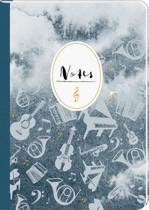 Notizhefte – All about music – DIN A4 von Sander,  Gesa