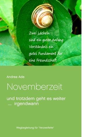 Novemberzeit von Ade,  Andrea