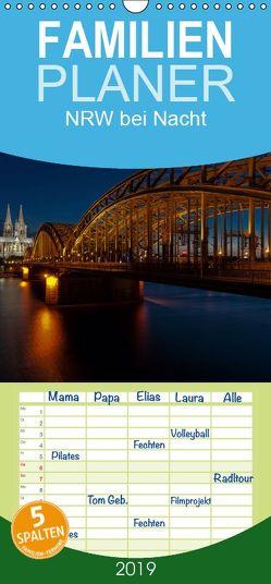 NRW bei Nacht – Familienplaner hoch (Wandkalender 2019 , 21 cm x 45 cm, hoch) von Webrock-Foto.de