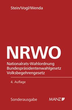 NRWO Nationalrats-Wahlordnung 1992 von Stein,  Robert, Vogl,  Mathias, Wenda,  Gregor