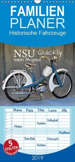 NSU Quickly – Mein Moped – Familienplaner hoch (Wandkalender 2019 , 21 cm x 45 cm, hoch) von Laue,  Ingo