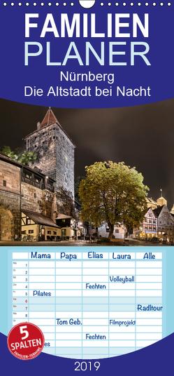 Nürnberg – Die Altstadt bei Nacht – Familienplaner hoch (Wandkalender 2019 , 21 cm x 45 cm, hoch) von Bininda,  Andreas