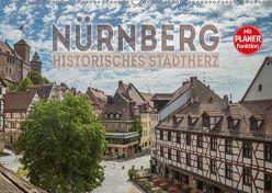 NÜRNBERG Historisches Stadtherz (Wandkalender 2019 DIN A2 quer) von Viola,  Melanie